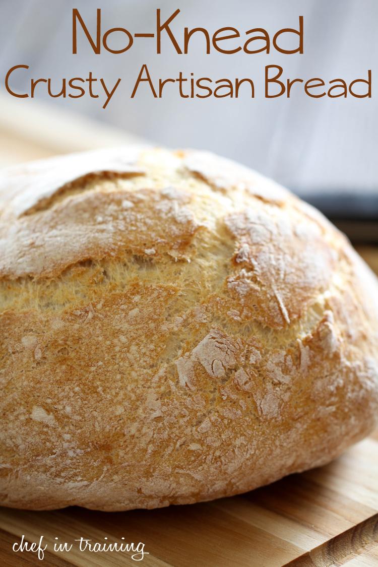 No-Knead Crusty Artisan Bread | Chef in Training