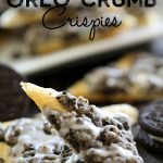 Oreo Crumb Crispies from chef-in-training.com ...These are INCREDIBLE! They whip up minutes and are a delicious treat!