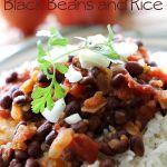 Spicy Black Beans and Rice on chef-in-training.com ...This is a fast, easy, healthy and flavorful meal! It gets rave reviews in my home!