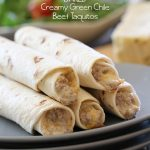 BAKED Creamy Green Chile Beef Taquitos