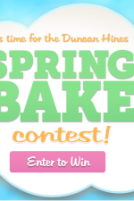 SECOND CHANCE!! Duncan Hines Spring Bake Contest