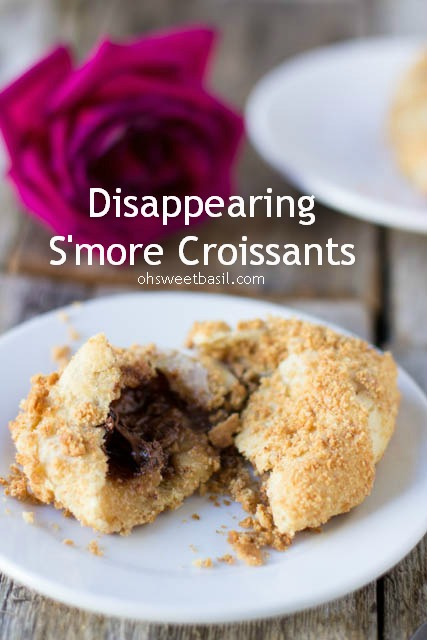Disappearing S'more Crossiants from Sweet Basil guest post on chef-in-training.com ...These are perfection!