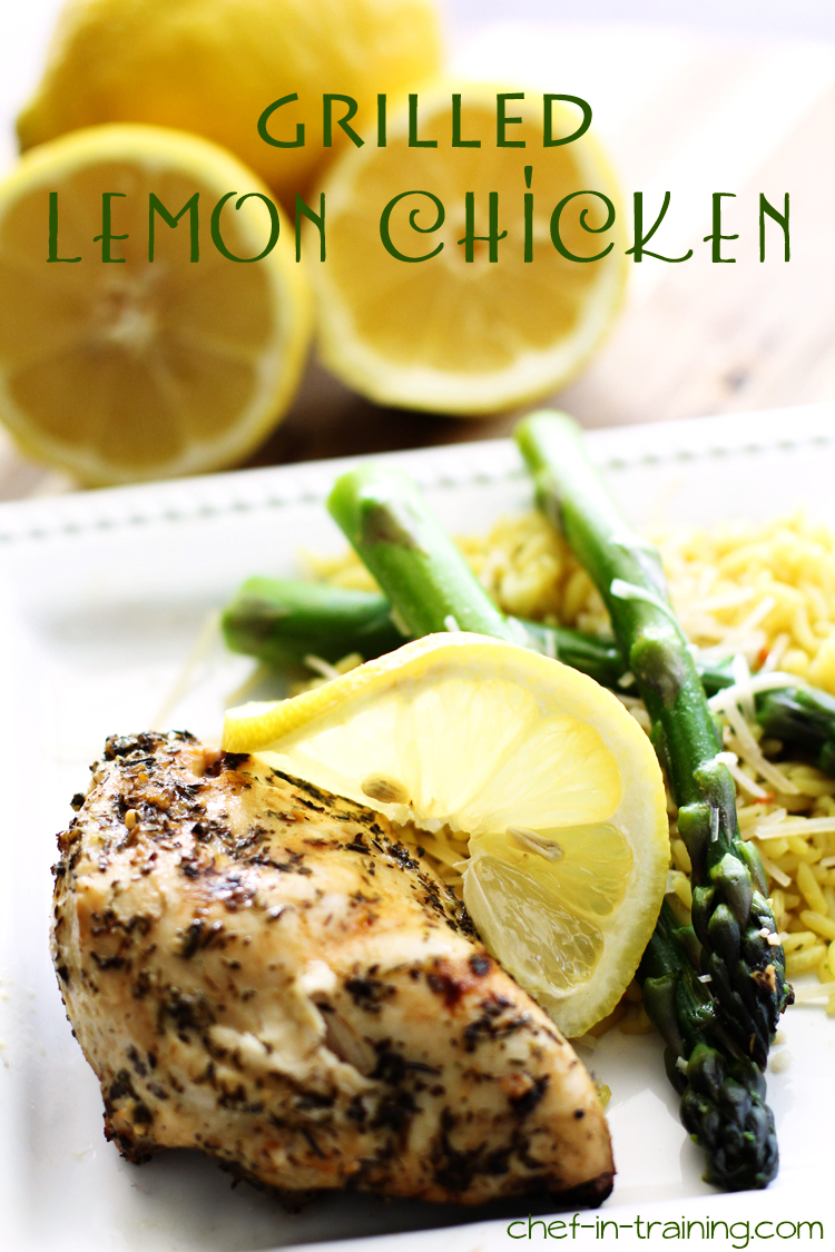 This Grilled Lemon Herb Chicken is unbelievably good! The marinade is absolutely amazing and the chicken is beyond flavorful and juicy!
