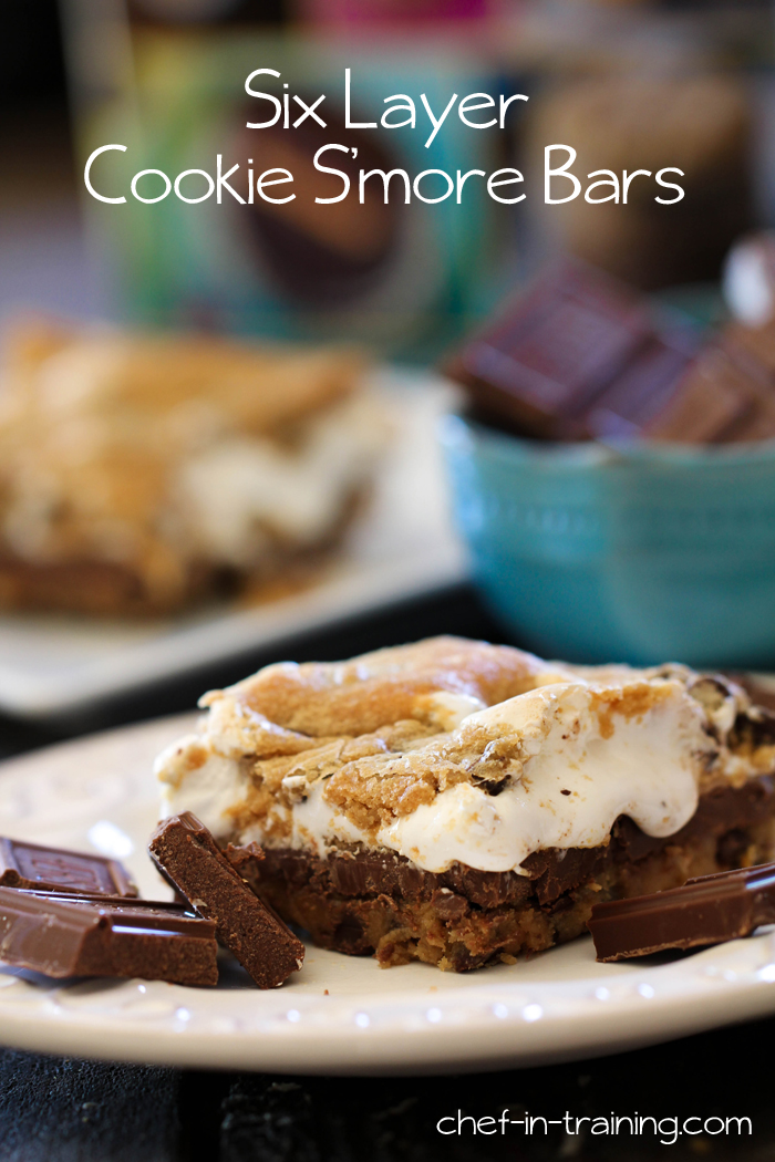 Six Layer Cookie S'more Bars! These bars have it all!... One of the best things I have ever eaten!