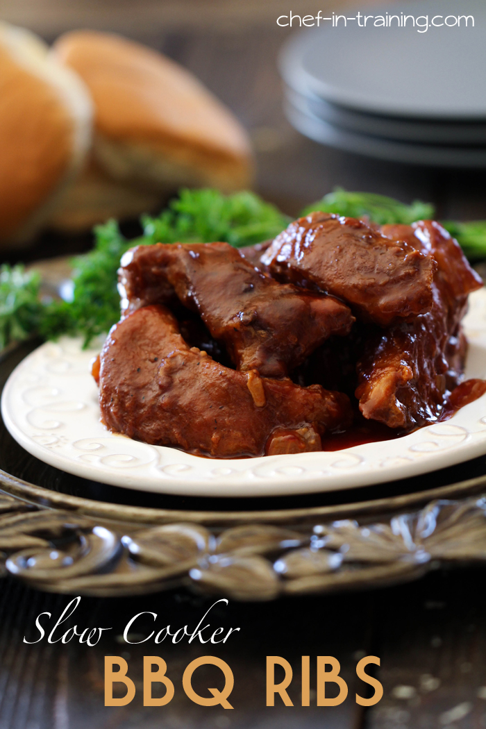 Slow Cooker BBQ Ribs - Chef in Training