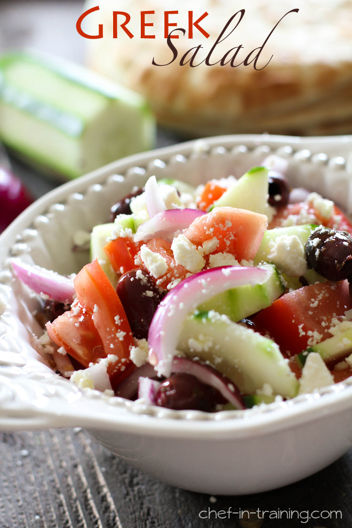 Greek Salad... a delicious and healthy recipe. It is so easy to make and tastes SO good!