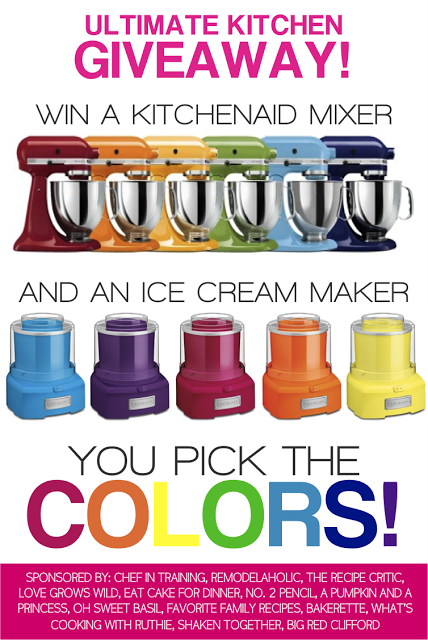 Come visit chef-in-training.com to enter for your chance to win The Ultimate Kitchen Giveaway!