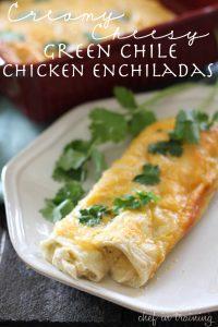 Creamy-Cheesy-Green-Chile-Chicken-Enchiladas