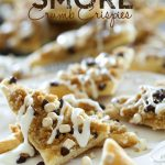S'more Crumb Crispies from chef-in-training.com ...An easy and delicious new way to enjoy the smore flavor! This tasty treat whips up in minutes and would make a great after-school-snack!