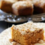 Pumpkin Streusel Bars from chef-in-training.com ...These pumpkin bars are seriously THE BEST! They are so moist and delicious!