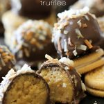 Samoa Truffles from chef-in-training.com ...only FIVE ingredients and they couldn't be more delicious! Could be my favorite truffles yet!
