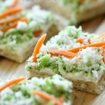 Simple Veggies Bars on chef-in-training.com ...These are SO Easy and are a delicious variation of veggies and dip! Must try!