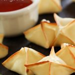 BAKED Cream Cheese Rangoons from chef-in-training.com ....These little appetizers are insanely delicious and addictive!