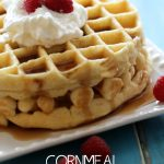 Cornmeal Buttermilk Waffles from chef-in-training.com ...The cornmeal is the secret ingredient to the incredible texture of these delicious waffles!