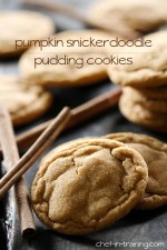 Pumpkin Snickerdoodle Pudding Cookies