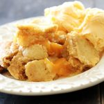 Slow Cooker Peach Cobbler from chef-in-training.com ... Only THREE ingredients and super good!
