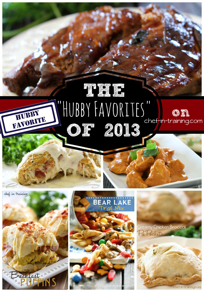 "Chef In Training's husband has rounded up his personal ""HUBBY FAVORITES"" of 2013! A great list for feeding the men in your life!"