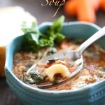 Minestrone Soup from chef-in-training.com ... A healthy and flavorful dinner that is SO delicious!