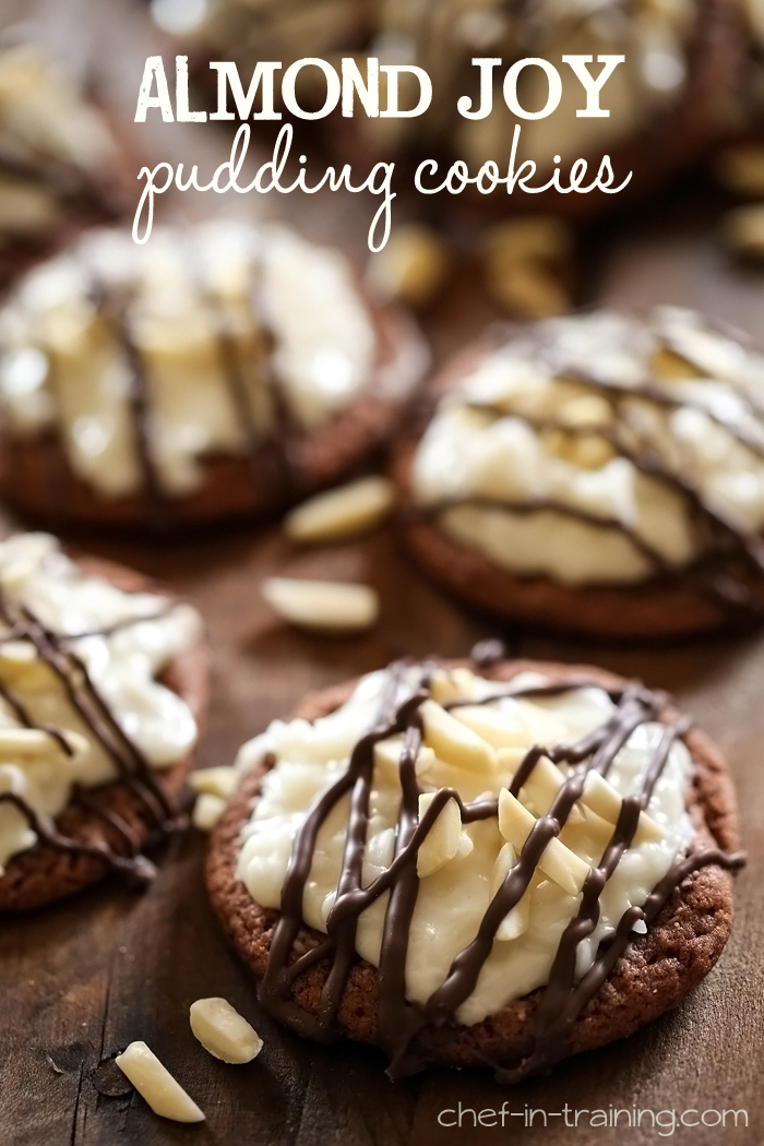 Almond Joy Pudding Cookies from chef-in-training.com ...These cookies are seriously INCREDIBLE!