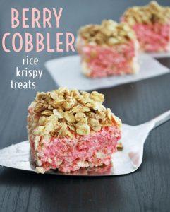 Berry Cobbler Rice Krispy Treats