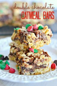Double Chocolate Oatmeal Bars