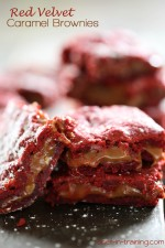 Red Velvet Caramel Brownies