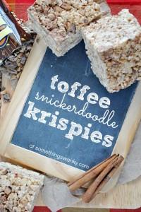 Toffee Snickerdoodle Rice Krispies Treats