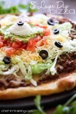 8 Layer Dip Pizza
