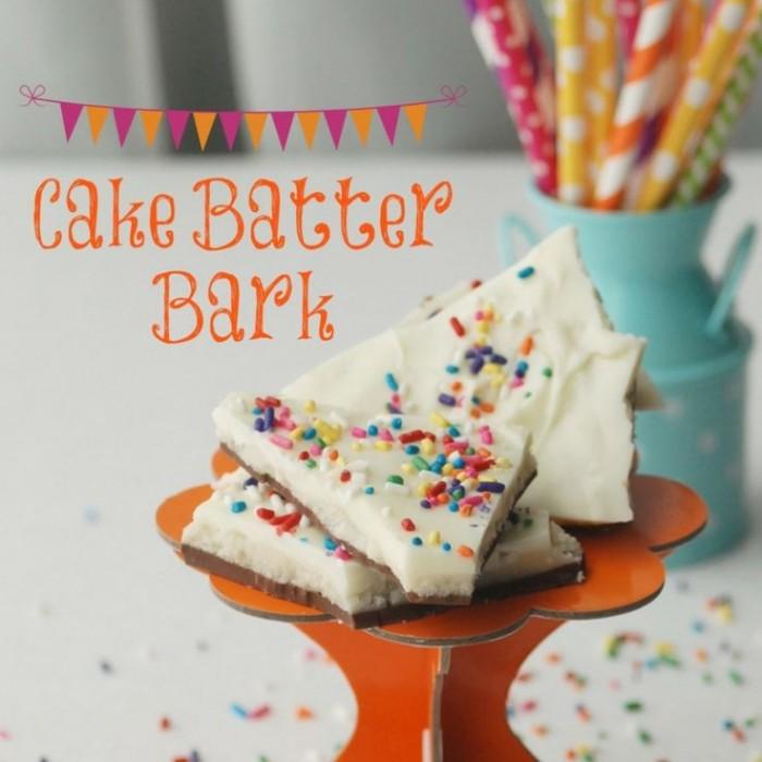 Cake Batter Bark