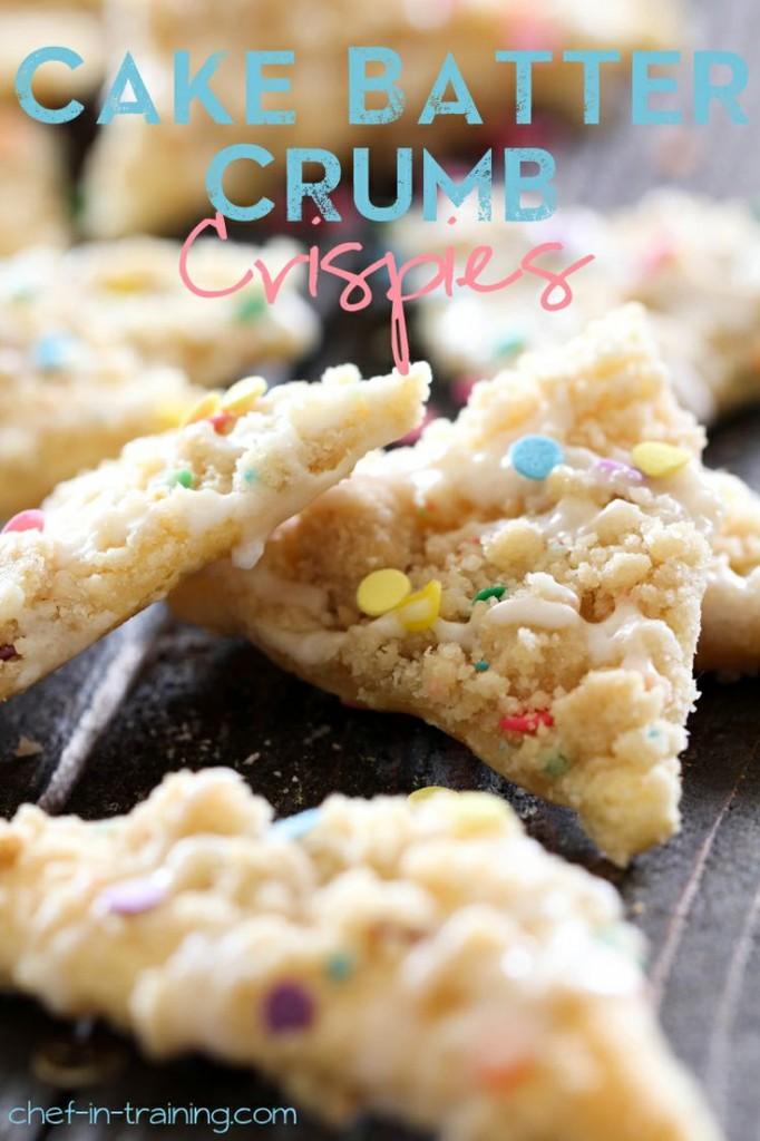 Cake Batter Crumb Crispies