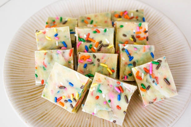 Cake Batter White Chocolate Fudge