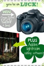 Canon Rebel DSLR Camera and Adobe Lightroom Giveaway