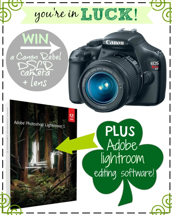 Enter to win a Canon Rebel DSLR Camera and Adobe Lightroom on chef-in-training.com