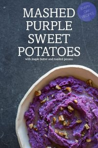 Mashed Purple Sweet Potatoes