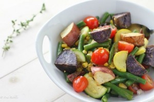 Rainbow Roasted Potato Salad