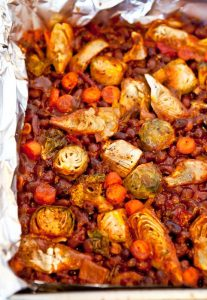 Spicy Baked Black Beans with Vegetables