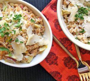 Warm Farro & Artichoke Salad