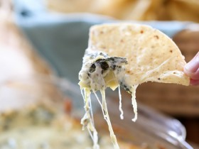 THE BEST Hot Spinach Artichoke Dip from chef-in-training.com …This dip is seriously amazing! I could eat the whole pan myself!