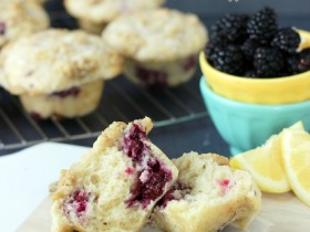 Lemon Blackberry Muffins…