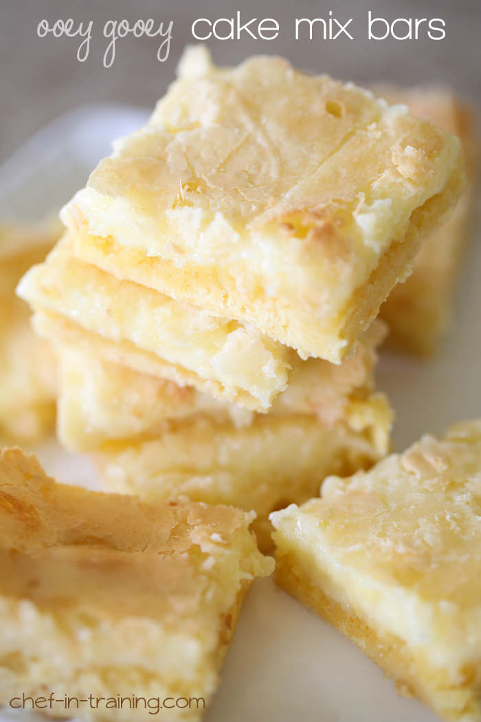 Lemon Coconut Bars Made With Cake Mix