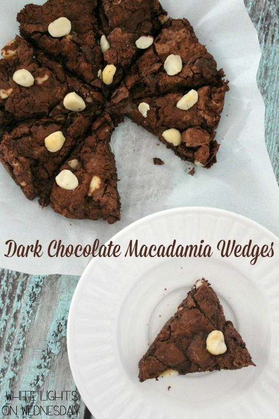Dark Chocolate Macadamia Wedges