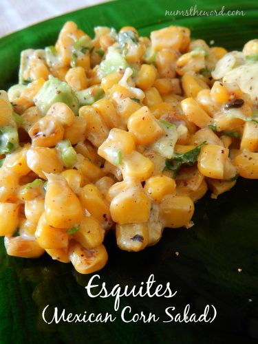 Esquites (Mexican Corn Salad) from Nums the Word