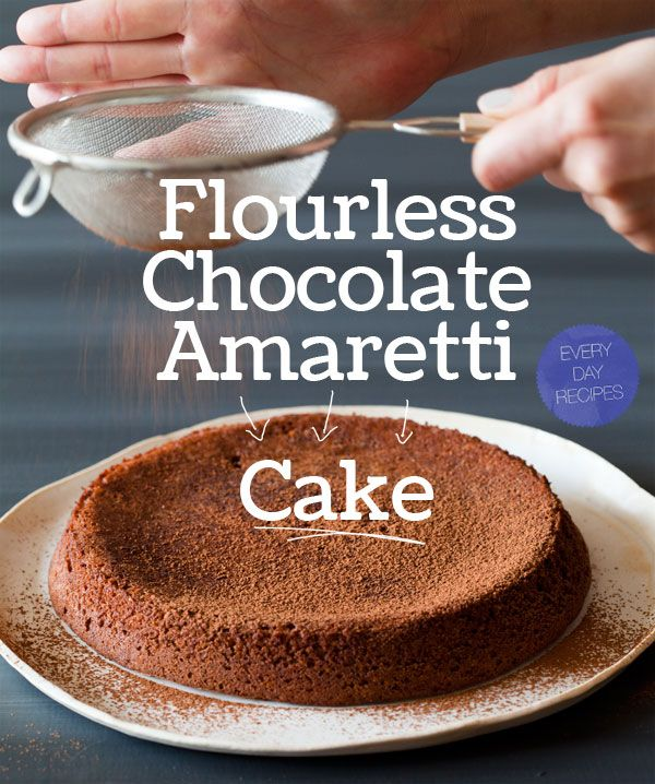 Flourless Chocolate Amaretti Cake