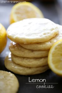 Lemon Cookies from chef-in-training.com …These cookies are soft, chewy and have the perfect hint of lemon in every bite!