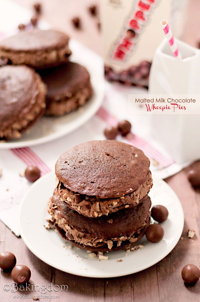 Malted Milk Chocolate Whoopie Pies