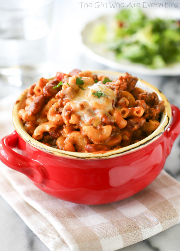 Chili Mac from The Girl Who Ate Everything on chef-in-training.com ...