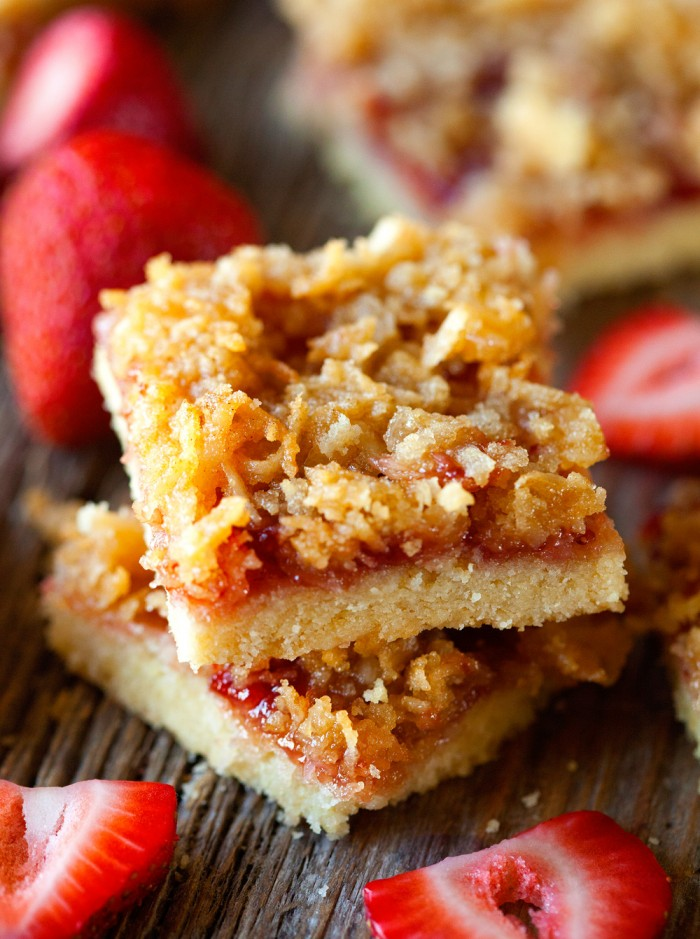 Dreamy Strawberry Coconut Bars on chef-in-training.com …These are AMAZING!