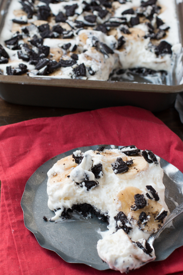 Oreo Cake with Bananas from Oh, Sweet Basil on chef-in-training.com …This cake is so easy and so delicious!