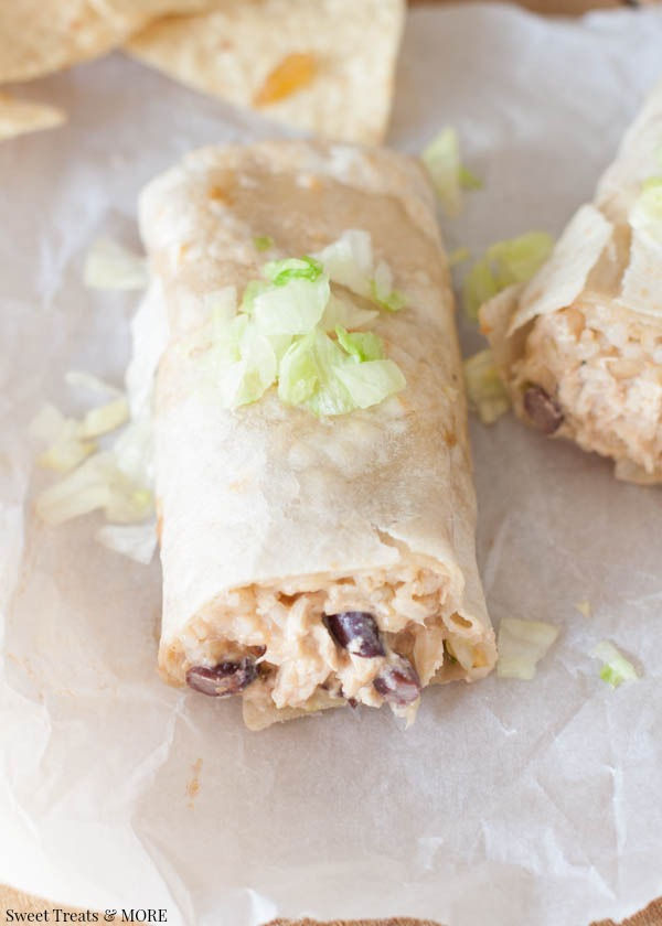 Healthy Creamy Chicken Burritos… This is a recipe that your whole family will love!