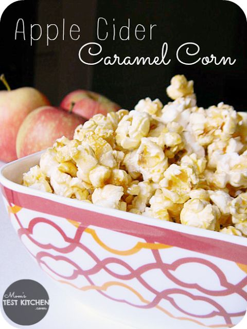 Apple Cider Caramel Corn